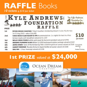 Kyle Andrews Foundation Broome Pentathlon Raffle 2020